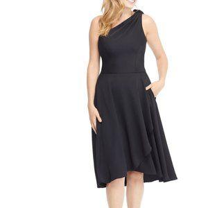 Gal Meets Glam OCTAVIA Black One Shoulder Dress